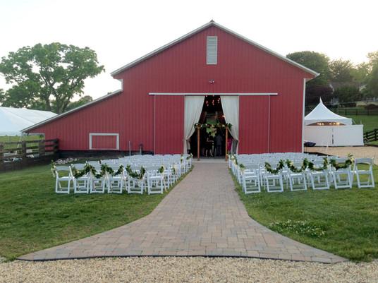Robin Hill Wedding Barn Entrance