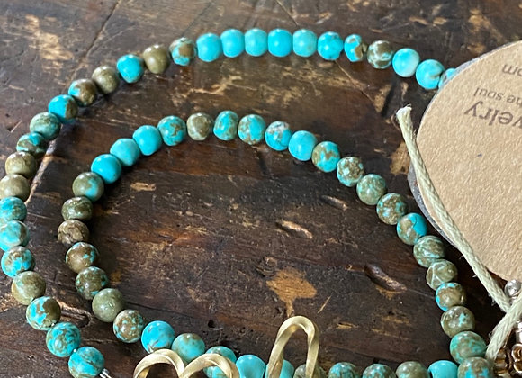 Turquoise chokers with sterling