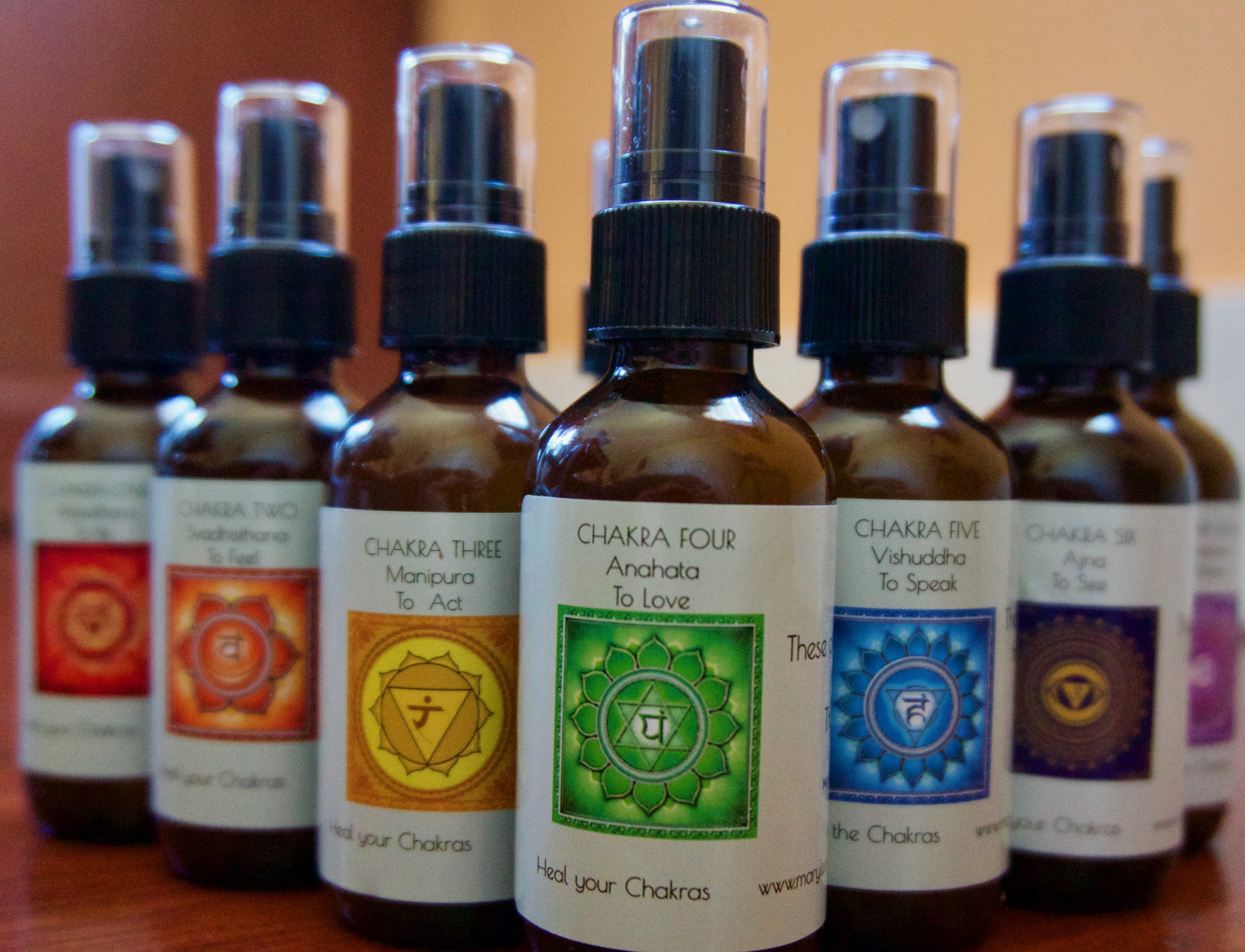 essential oil chakra spray