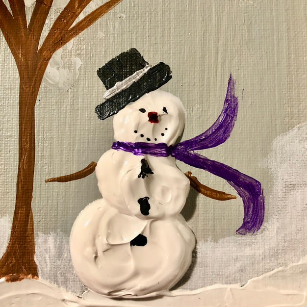 Purple Scarf and Top Hat