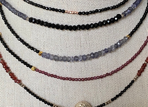 Black Tourmaline Chokers -Faith