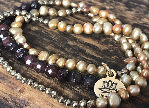 Freshwater Pearls with 14k or  Pyrite