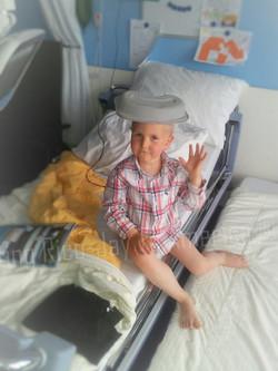 28juni2012Onder de douche geweest en klaar voor de avond Rico begint te wennen en ja mama campeert h