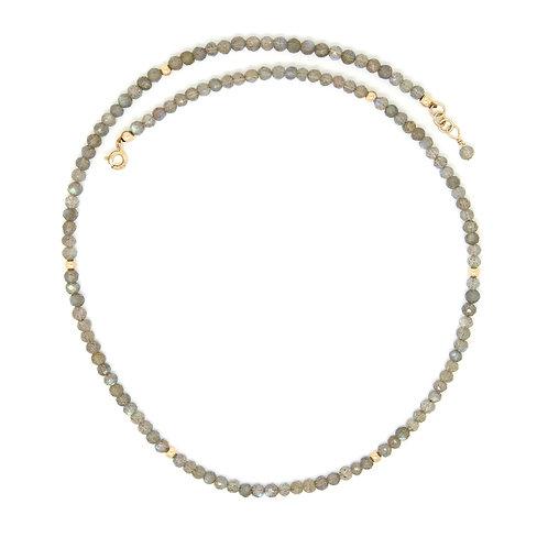 Labradorite solid gold Regan necklace