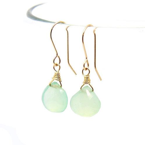 Chalcedony Rosalind solid gold earrings