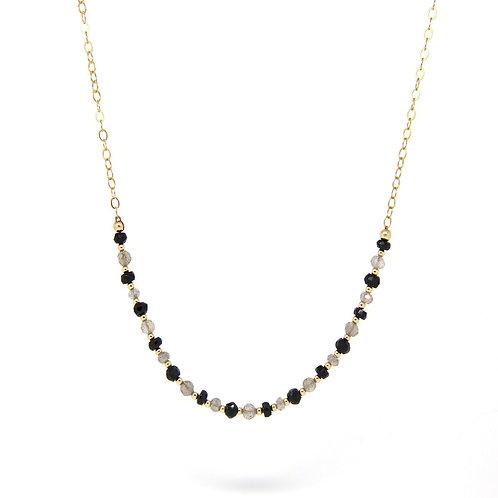 Black Spinel & Labradorite Imogen necklace