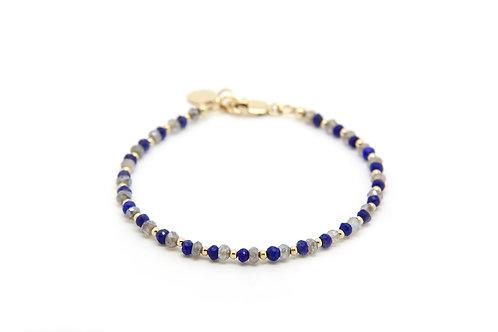 Lapis Lazuli & Labradorite Cressida bracelet
