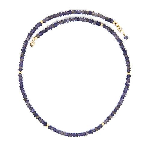 Iolite solid gold Regan necklace