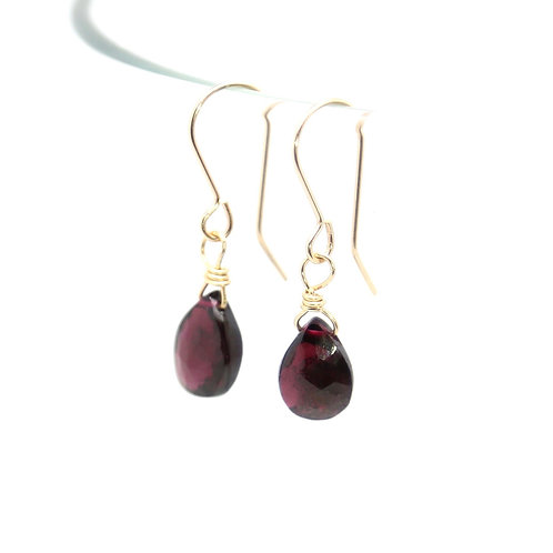 Garnet Rosalind solid gold earrings