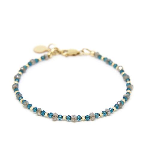 Labradorite & London Blue Topaz Cressida bracelet