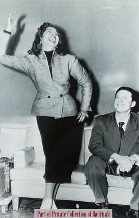 Samia Gamal with her husband #4