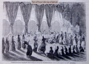 Reception of the Princess Clotilde in a harem in Cairo