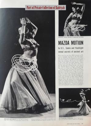 Samia Gamal in Life, 1952