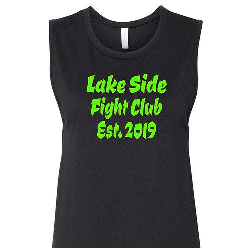 Women's Lake side fight club muscle tank