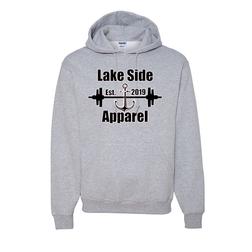 Men's Lake Side Apparel fleece pullover hooded sweatshirt