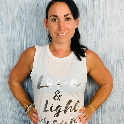 Ladies Love and Light Muscle Tank