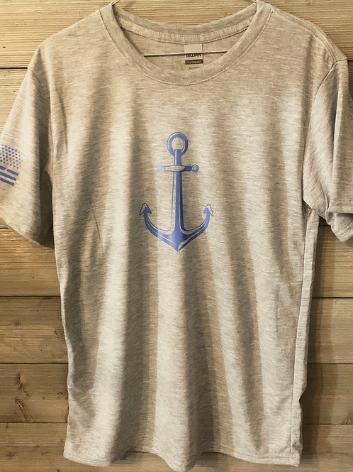 Men's anchor and flag performance shirt