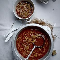Shorba Hamra (Vermicelli Tomato Soup)