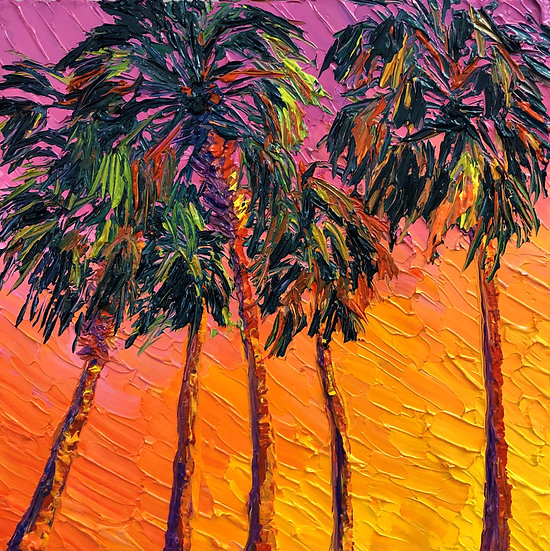 """Sunset Palms"" Fine Art Print"