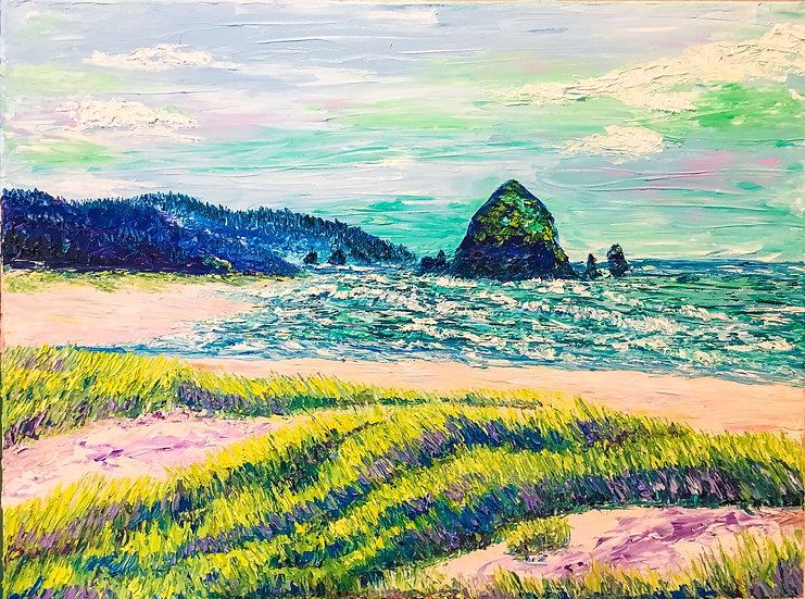 """Summers At Cannon Beach"" Fine Art Print"