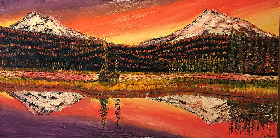 Sparks Lake at Sunset 8x10