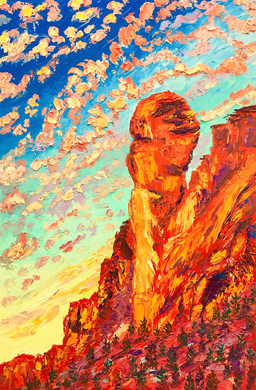 """Monkey Face Rock"" Fine Art Print"