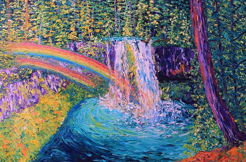"""""""Rainbow Falls"""" Fine Art Print"""