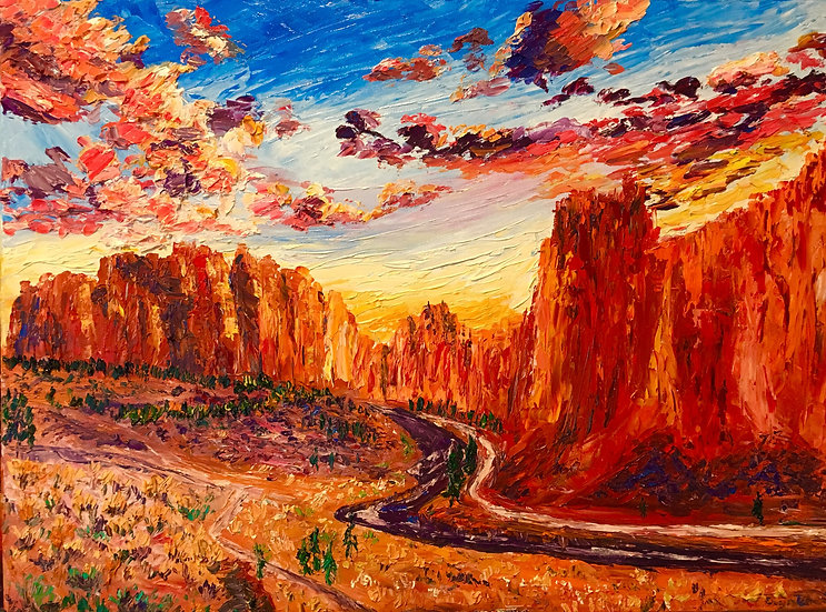 Smith Rock at Sunset 8x10