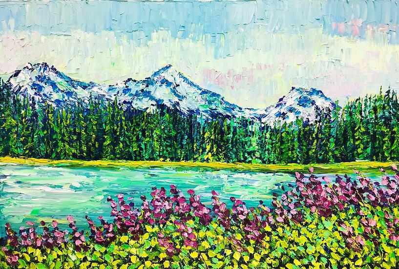"""""""Scott Lake"""" Fine Art Print"""