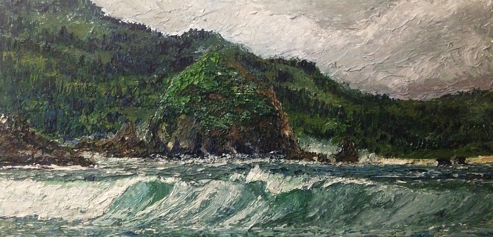 """Misty Shores"" 12x24 Oil on Canvas"