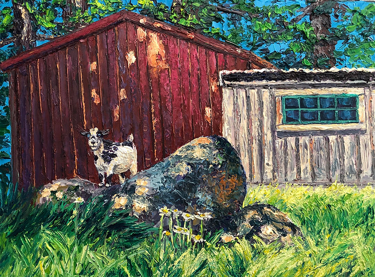 """The Curious Goat"" Fine Art Print"