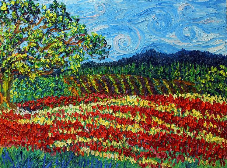 """""""Crimson Clover Fields"""" Fine Art Print"""