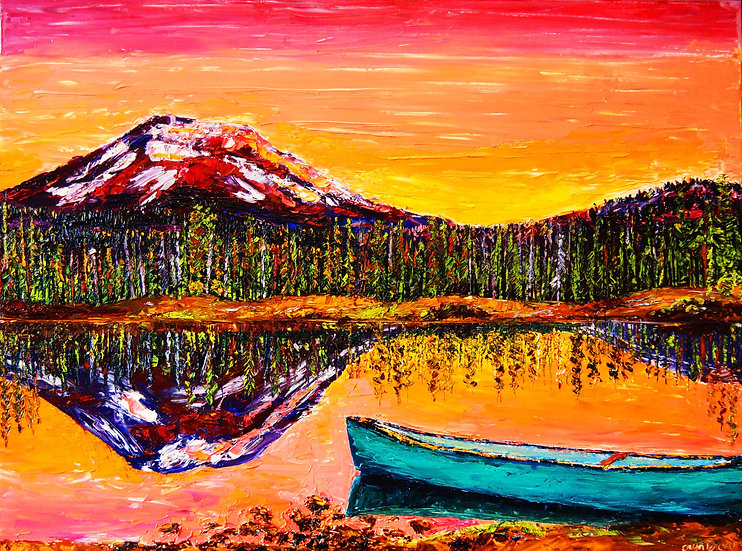 """Lakeside Sunrise"" Fine Art Print"