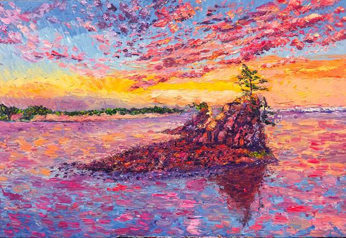 Siletz Bay. 24x36. Oil on canvas. Eryn T