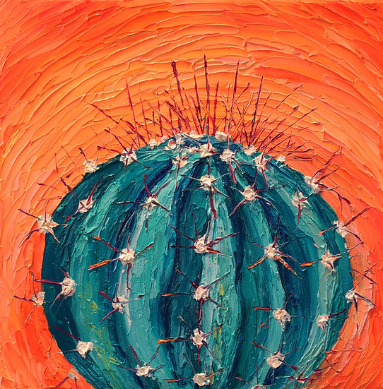 """Blue Barrel Cactus"" Fine Art Print"