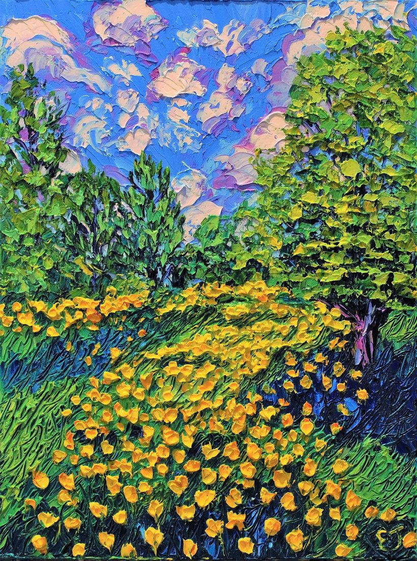 Secret Buttercup Garden. 12x16. Oil on canvas. Eryn Tehan 2021.jpg