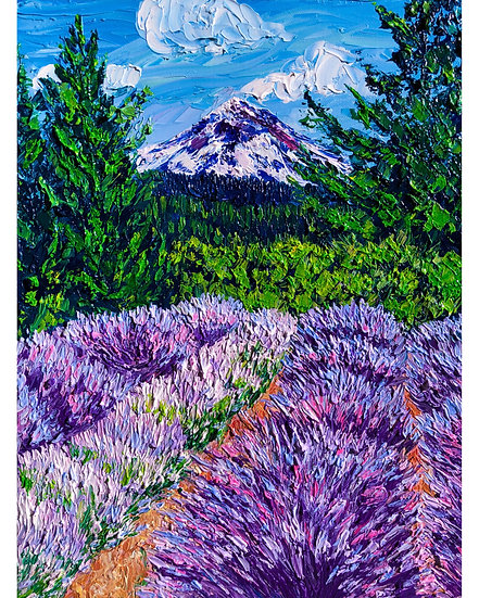 """Mountainside Lavender"" Fine Art Print"