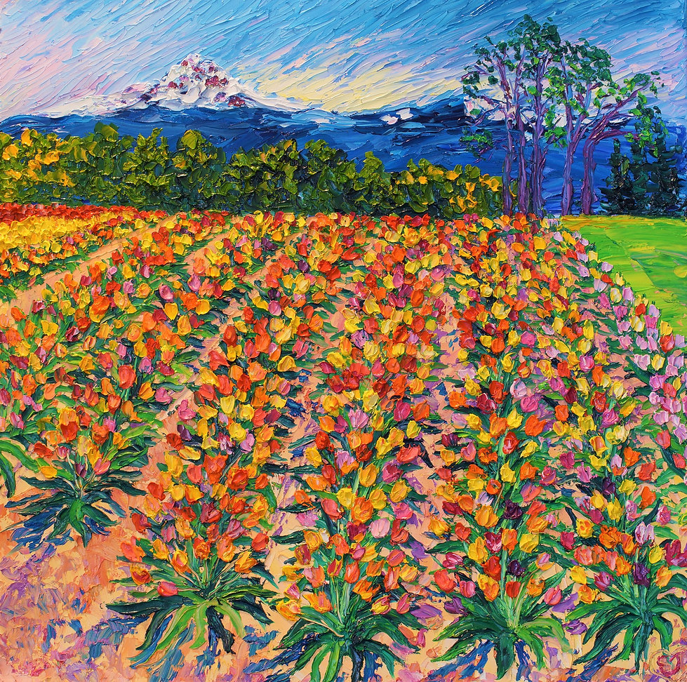 Eternal Spring. 20 x 20. Oil on Canvas.
