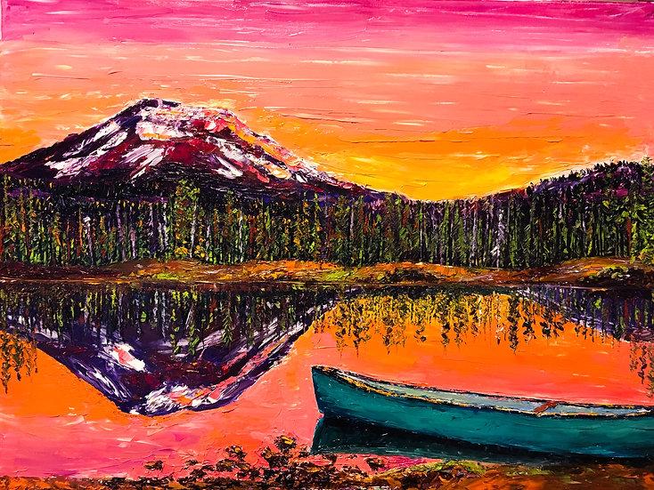 Lakeside Sunrise 8x10
