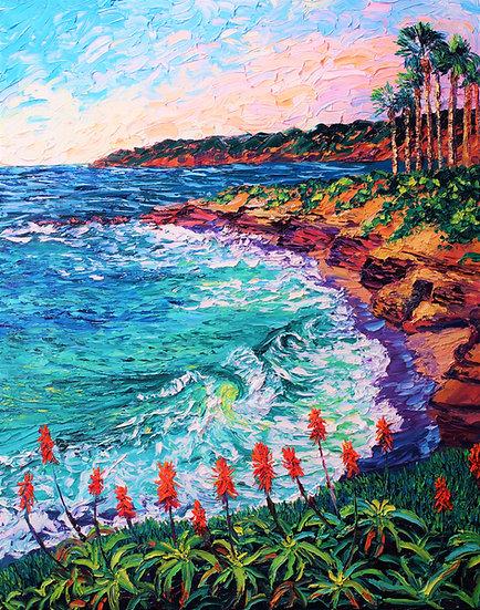 """La Jolla Cove Blooms"" Fine Art Print"