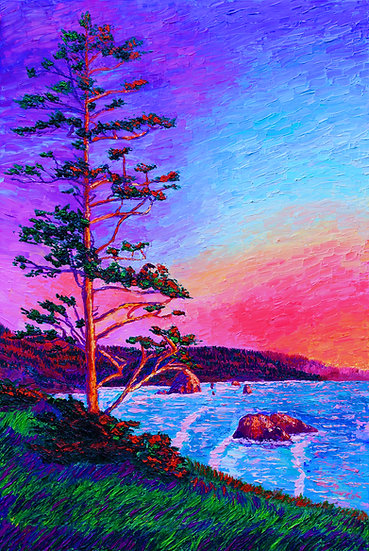 """Summer Glow at Ecola"" Fine Art Print"