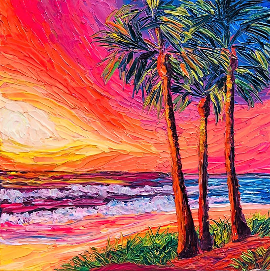 """Del Mar Palms"" Fine Art Print"
