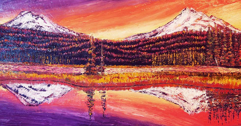"""Sparks Lake at Sunset"" Fine Art Print"