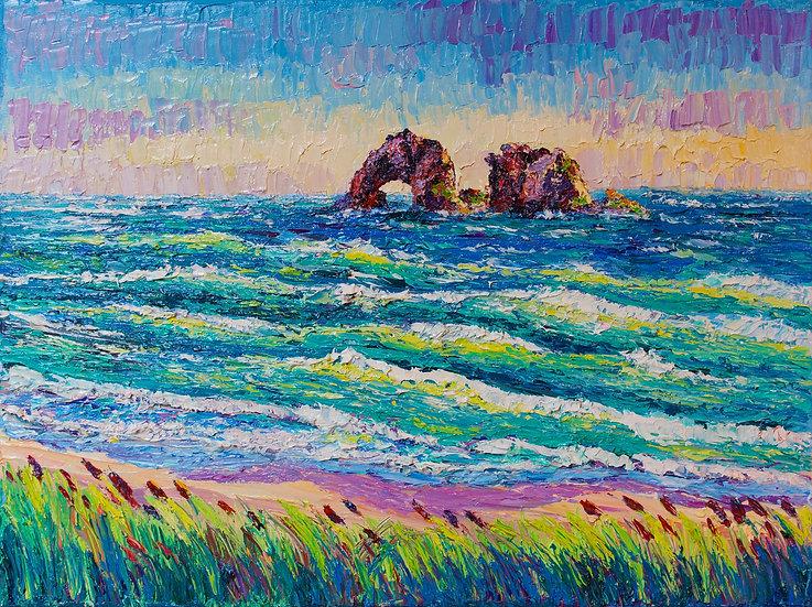 """Rockaway Beach"" Original 12x16"