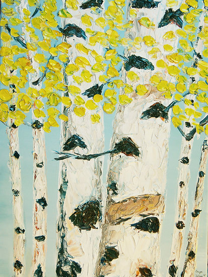 """Yellow Birch Trees"" Fine Art Print"