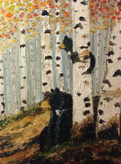 """Black Butte Bears.""30x40 Oil on Canvas"