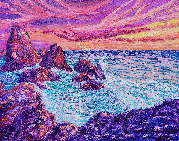 """Thrashing Waves"" Fine Art Print"