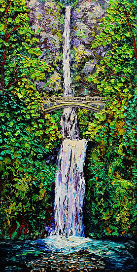 """Multnomah Falls"" Fine Art Print"