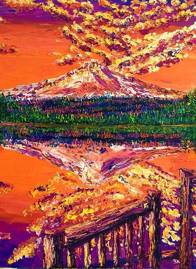 """Trillium Lake at Sunset"" Fine Art Print"
