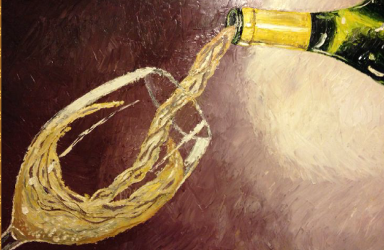 """Champagne.""24x36 Oil on Canvas"